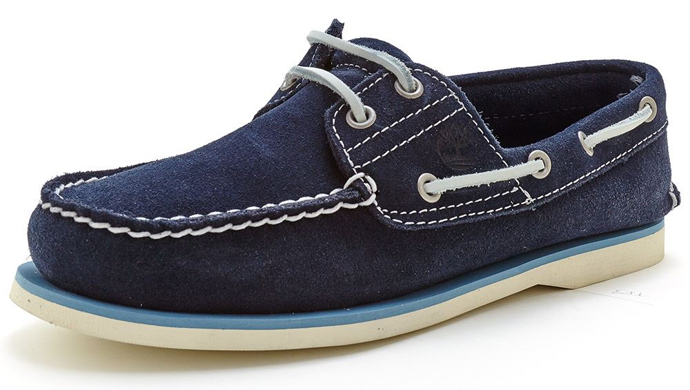 timberland blue suede boat shoes