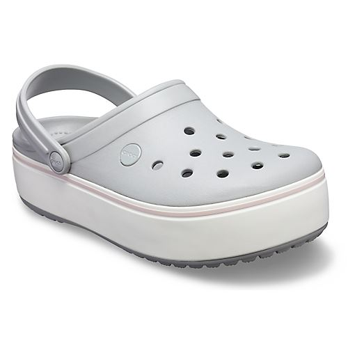 Crocs-Crocband-Platform-Clogs-Relaxed-Fit-Sandals-Shoes-in-Black-Grey-amp-Melon thumbnail 8