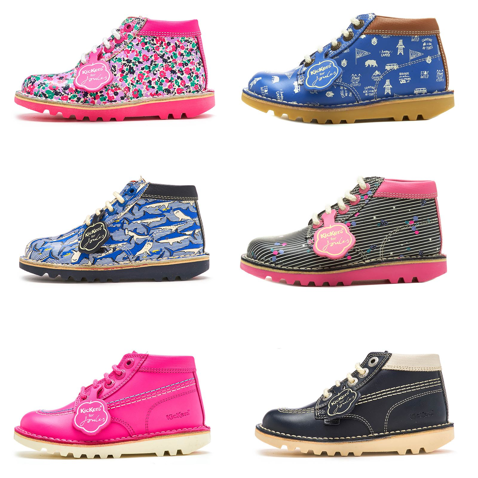 e345b93e404b Details about Kickers for Joules Special Edition Kick Hi Berry Jumble