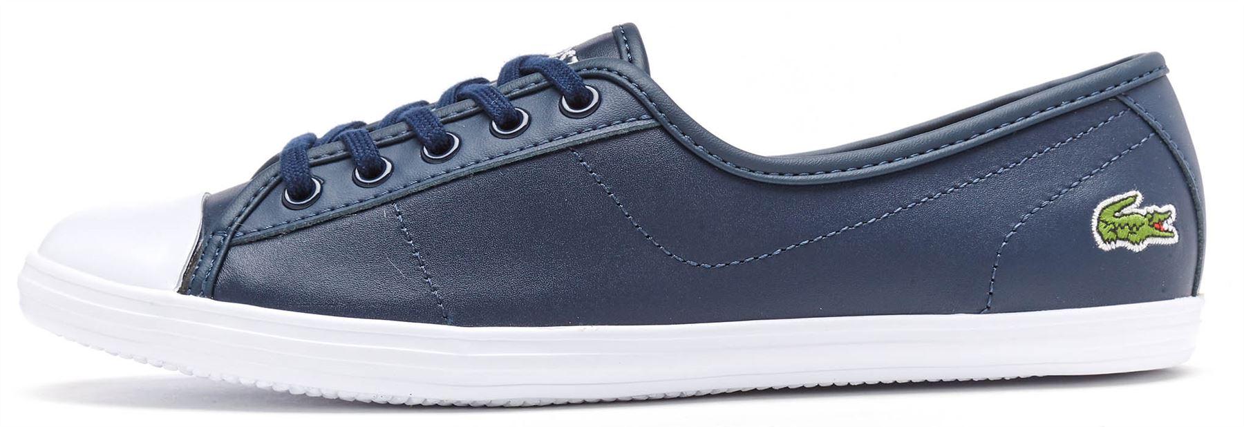 Lacoste ZIANE CHUNKY Lona & Cuero Resbalón en Zapatillas Zapatillas Zapatillas en Negro, blanco y azul marino 569256