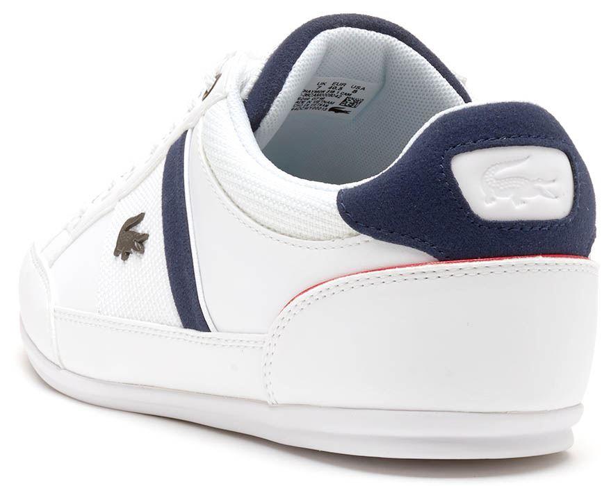 f4d172335ef Lacoste Chaymon 318 1 CAM formadores en blanco y azul marino azul  736CAM0008 042