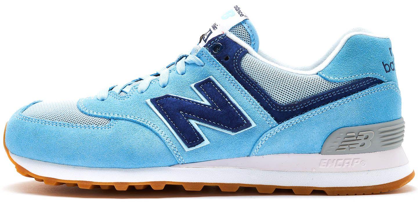 83efc5b4a3ef New Balance 574 Suede rétro formateurs en cachemire bleu ML574 WYE