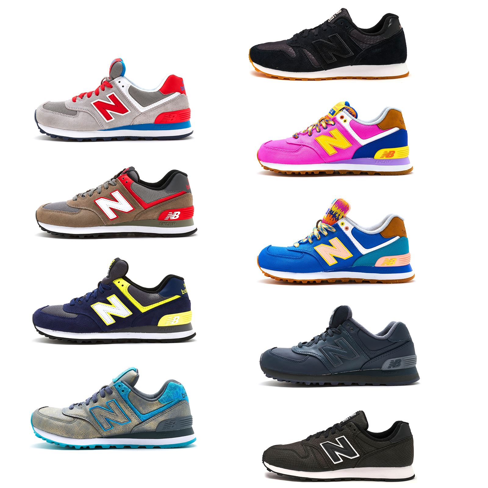hot sales adad6 a10ac New Balance 373   574 Suede   Sneakeskin Print Women Trainers Wide Range  Colours