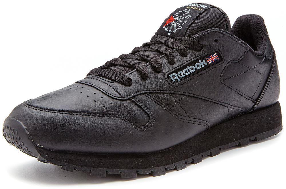 reebok classic trainers mens black