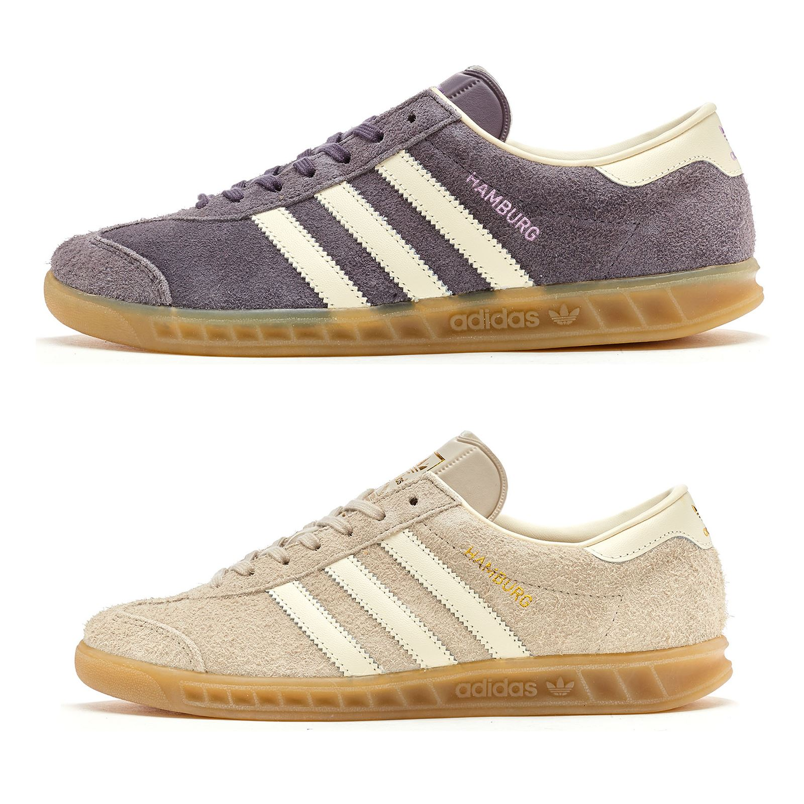 Adidas Hamburg Women Trainers in Clear Brown   Trace Grey in All Sizes d5387c0c3