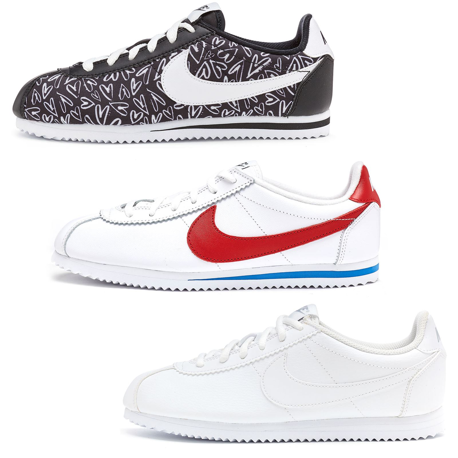 online retailer b979e 7762c ... 39 3ec8c 16ca7  italy nike cortez nylon leather forest gump print  trainers black white all sizes 480a7 02264