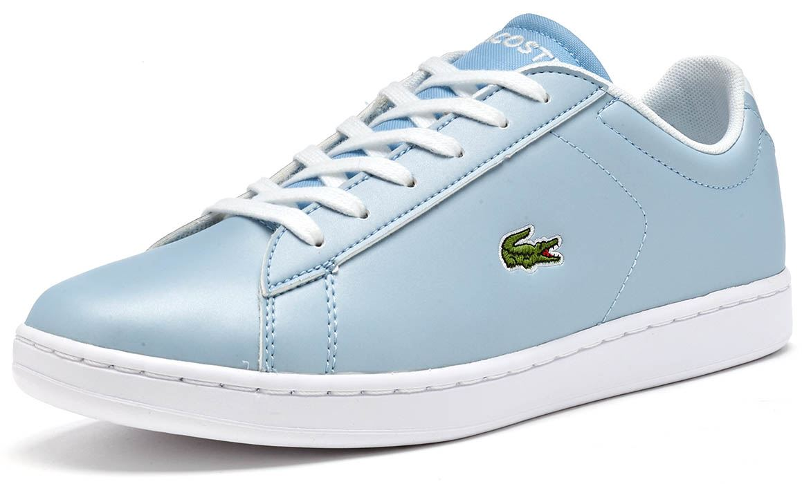 1fc0f8ef5e17 Lacoste Carnaby Evo 317 6 SPJ GS Trainers in Pink   Blue 734SPJ0006 ...