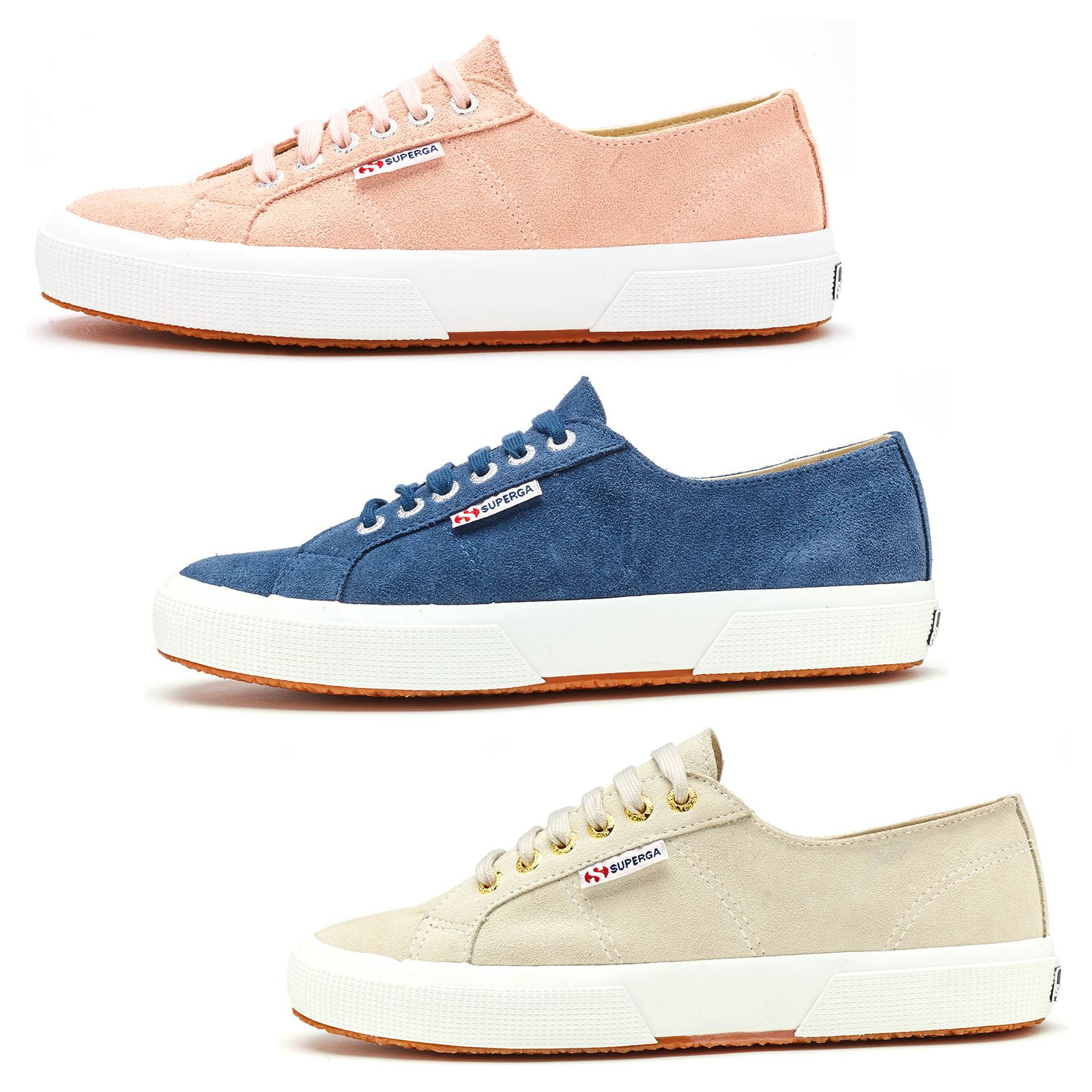 a774c6e4378 Details about Superga 2750 Sueu Suede Trainers in Blue Shadow