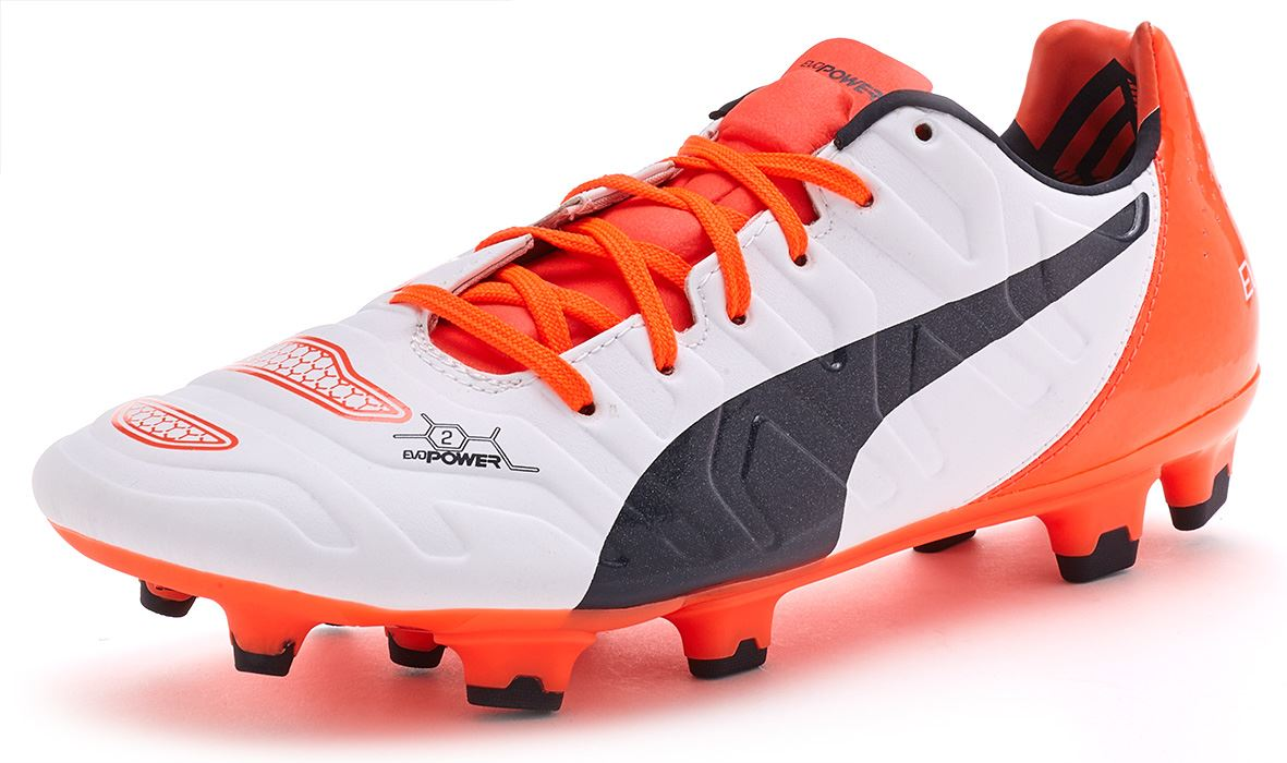 Puma EvoPower 1.2   2.2 Football Boots Soccer Cleats In Black White ... bedaa9067