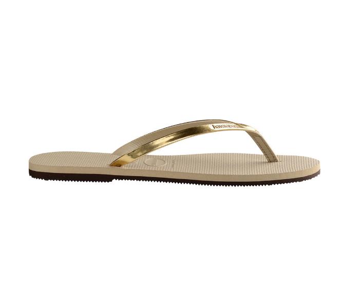 Havaianas-You-Metallic-Flip-Flops-Women-Summer-Beach-Sandals-Wide-Range-Colours miniature 11