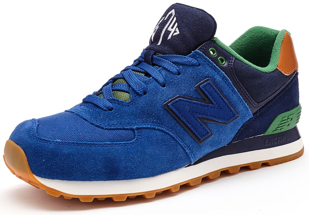 Mens New Balance Ml574 - Trainers - Blue/Green CE75714