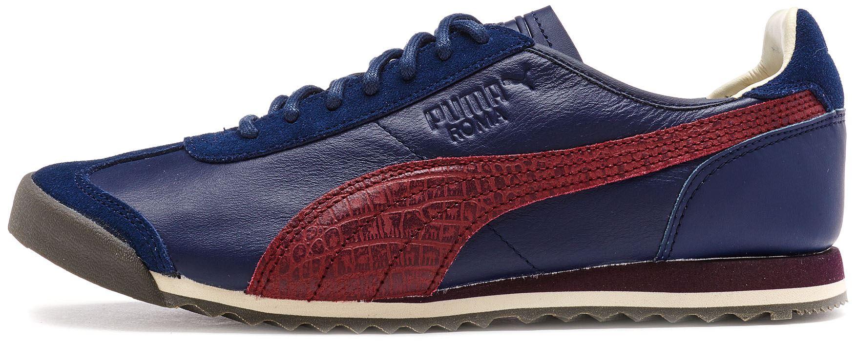 Puma ROMA og Citi SERIE Scarpe da ginnastica pelle in blu navy 361164 03