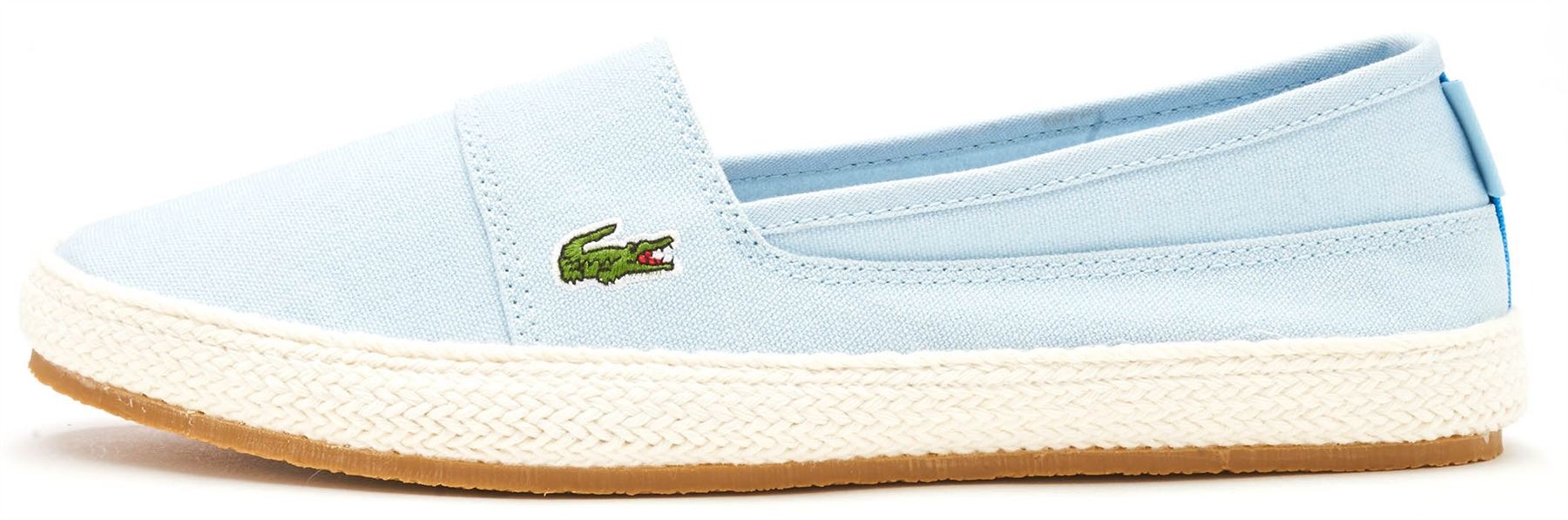 3bce3a3ba Lacoste Marice 218 1 CAW Canvas Women Slip Ons Trainers in Light Blue    White