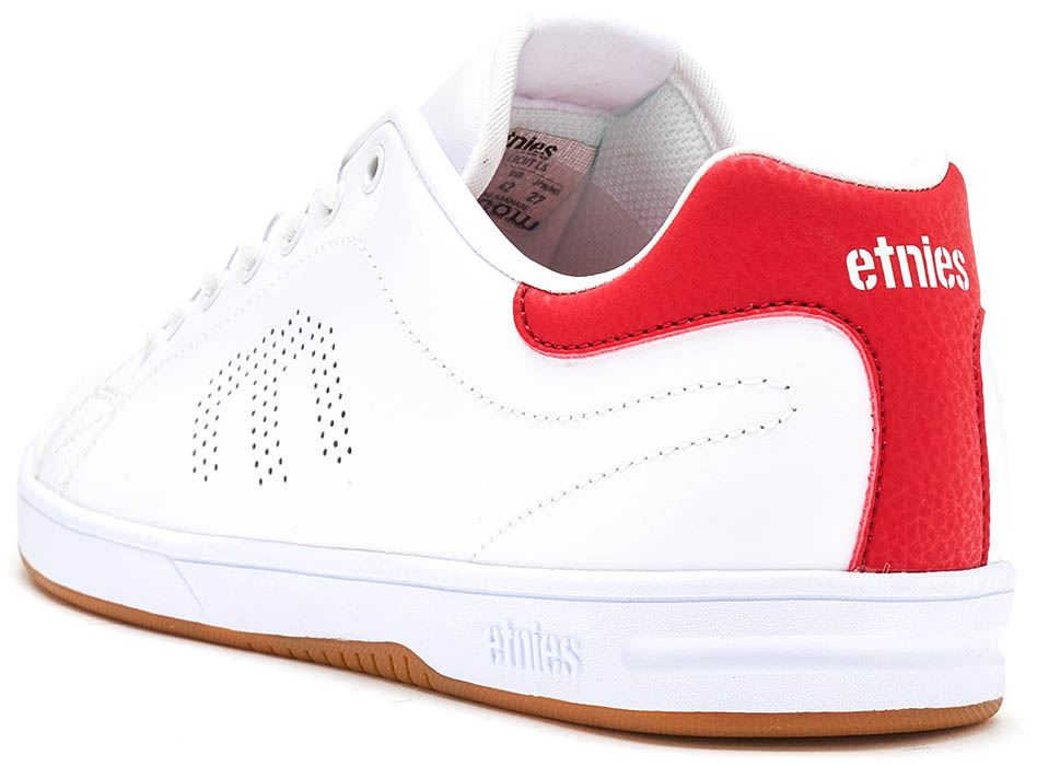 Etnies-Callicut-LS-Suede-amp-Leather-Vintage-Trainers-in-White-amp-Black-4101000474 thumbnail 12