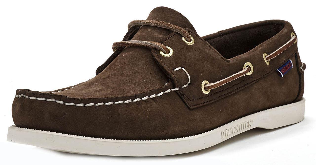 Sebago-Docksides-NBK-Suede-Boat-Deck-Shoes-in-Navy-Blue-amp-Coral-amp-Dark-Brown thumbnail 15