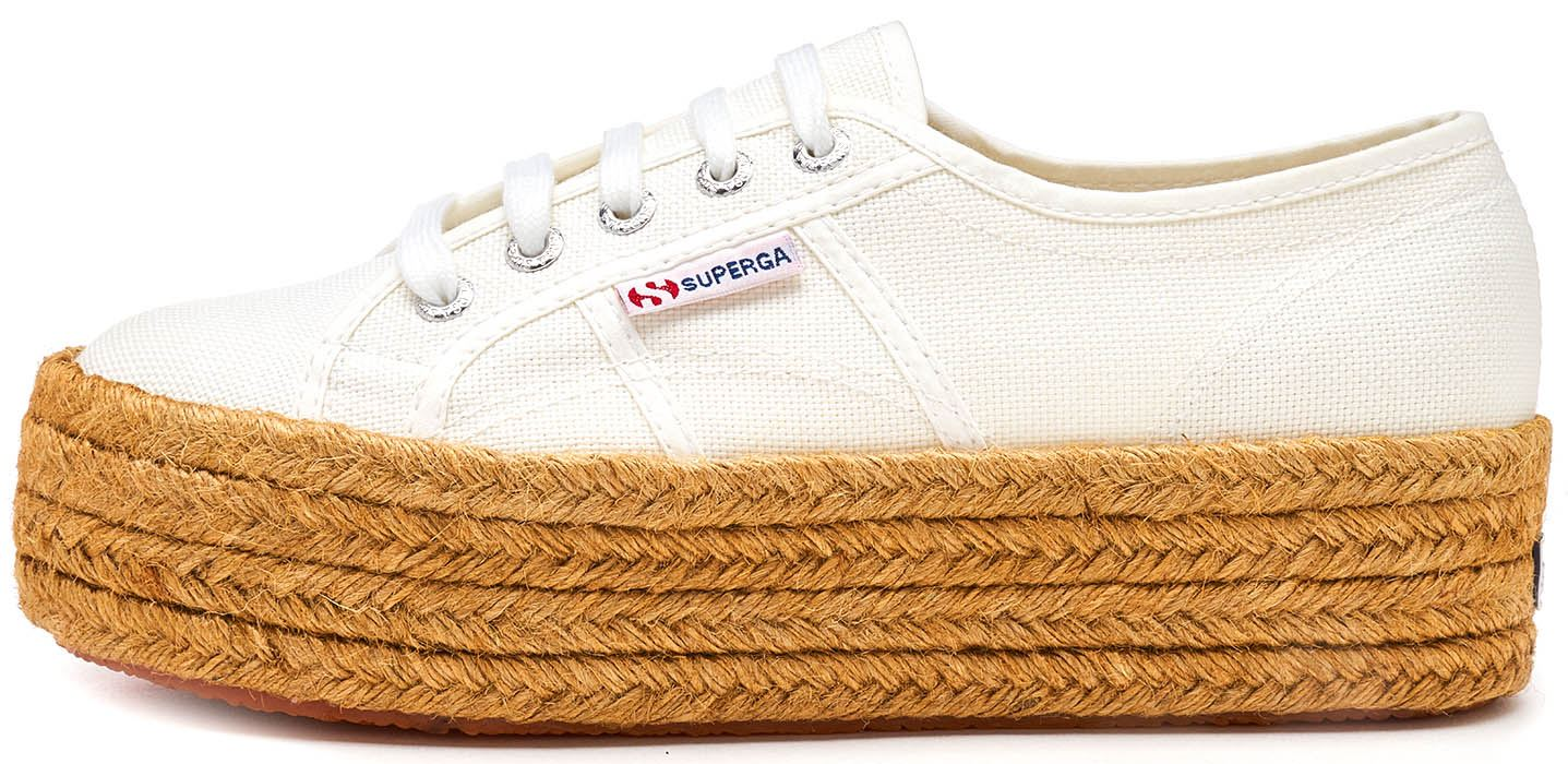 Superga 2790 Cotropew, Baskets Basses Femme, Rosa, (901 White), 35 EU