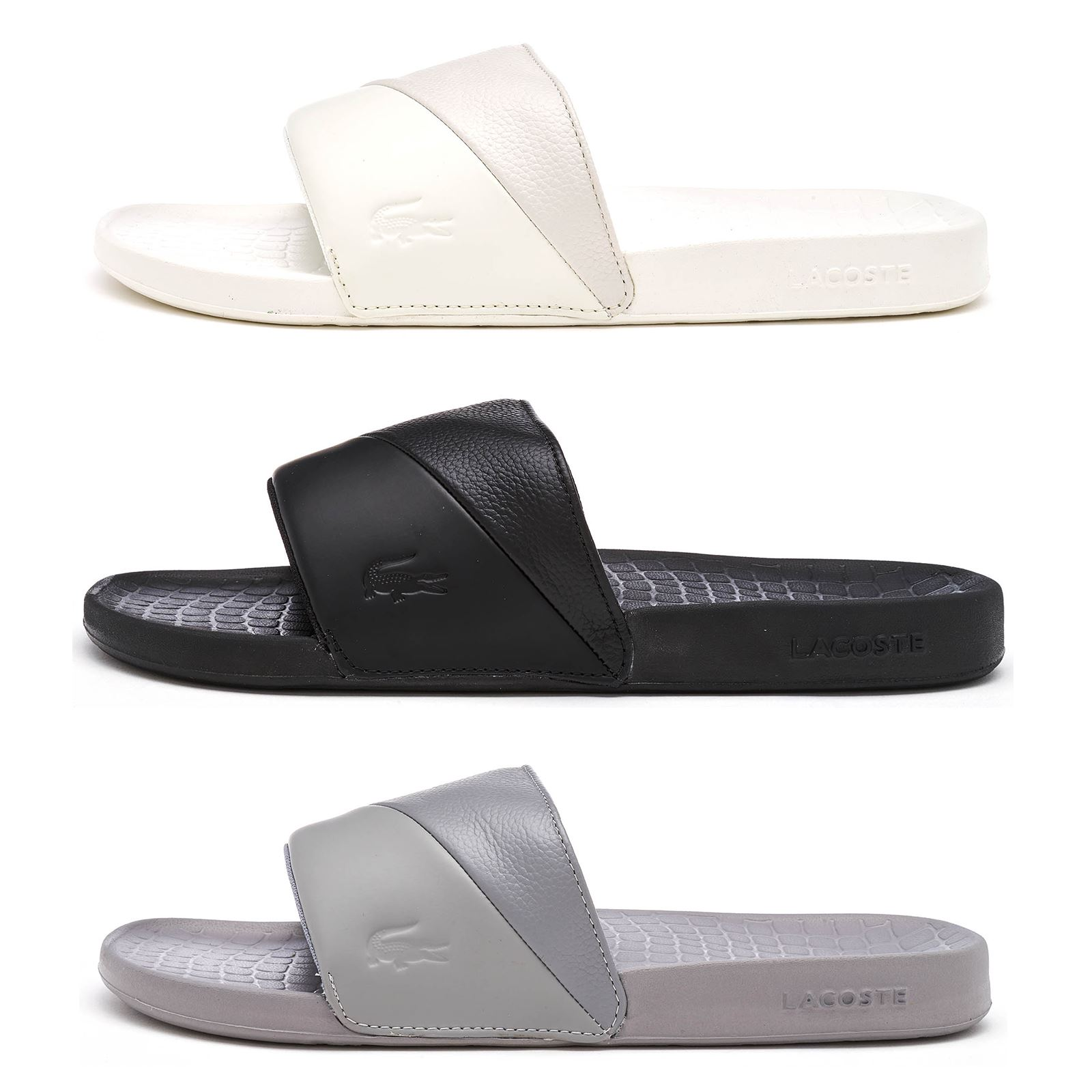 75ffc9be1e93 Details about Lacoste Fraisier 118 3 U Slide Pool Beach Premium Sandals in  Black