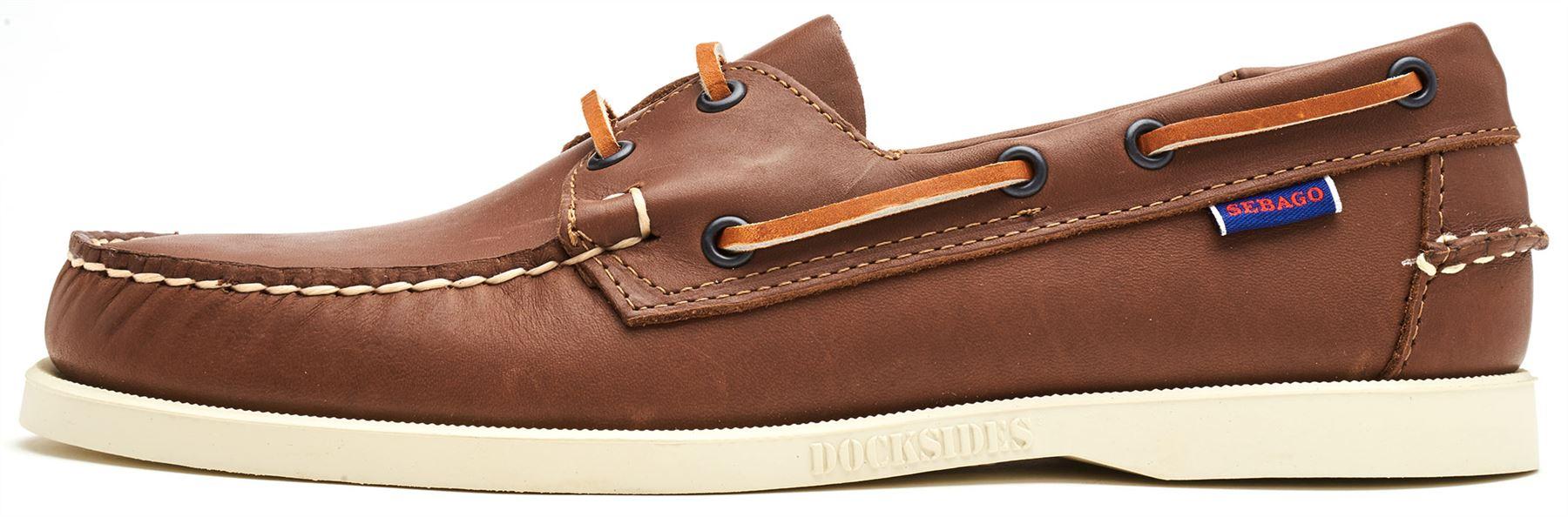 Sebago-Docksides-NBK-Suede-Boat-Deck-Shoes-in-Navy-Blue-amp-Coral-amp-Dark-Brown thumbnail 18