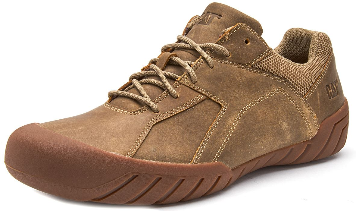 Caterpillar-CAT-Haycox-Shoes-Leather-Casual-Trainers-in-Brown-Taupe-amp-Grey thumbnail 3