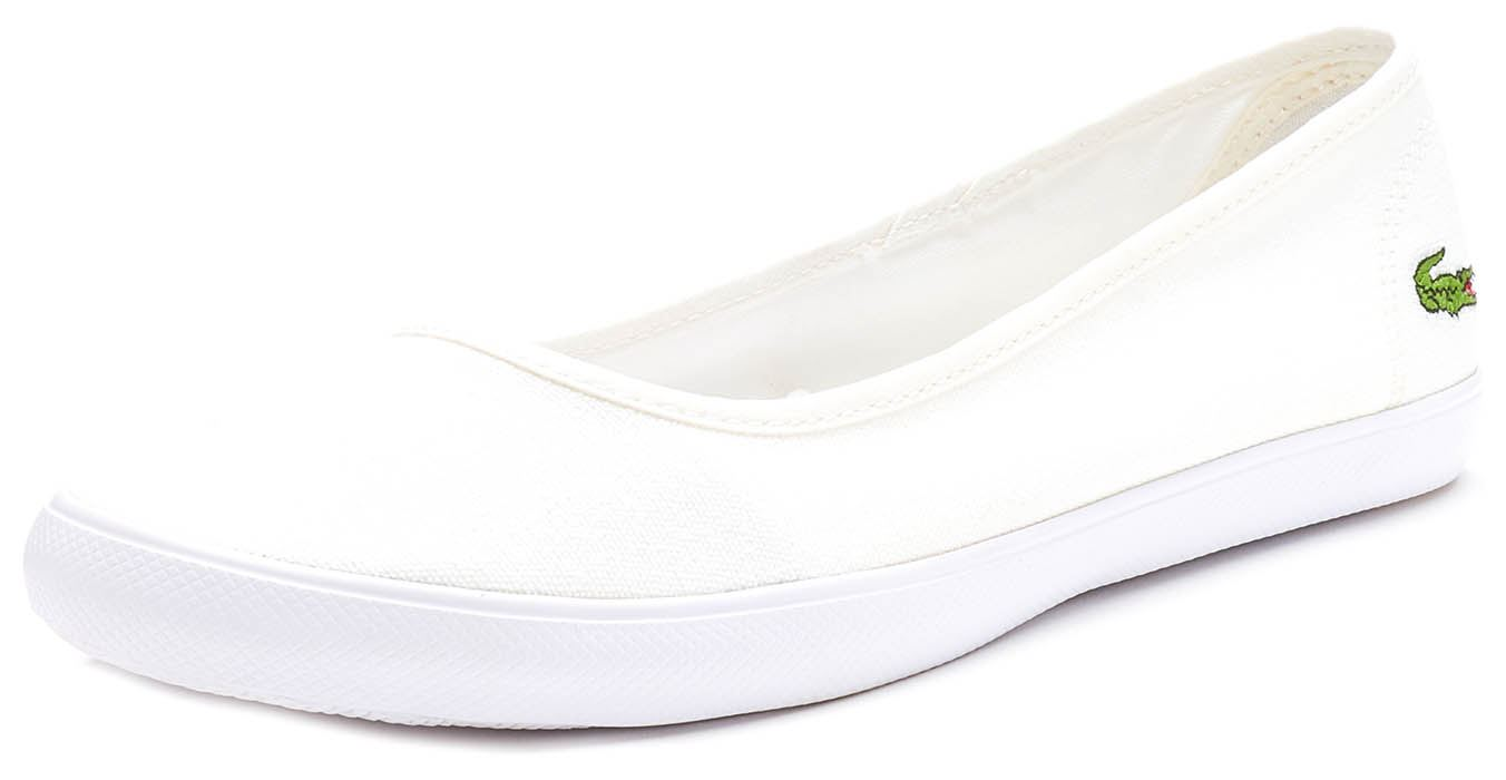99a0019f3b86f4 Lacoste Marthe BL 1 SPW Slip Ons Women Trainers in White   Navy Blue ...