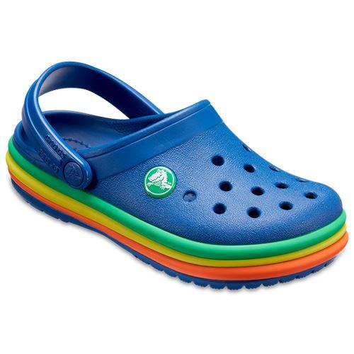 Crocs-Kids-Crocband-Rainbow-Wavy-Sequin-Relaxed-Fit-Clogs-Shoes-Pink-Blue-Orange thumbnail 9