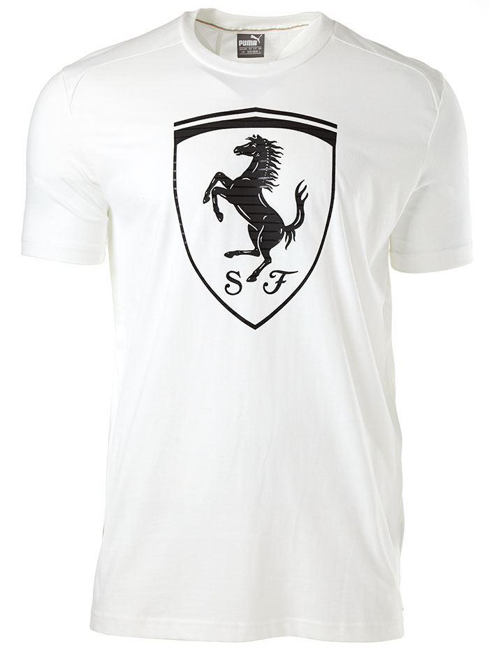 KPCYO Puma Ferrari Big Shield T-Shirt In Blue Grey & White 570681