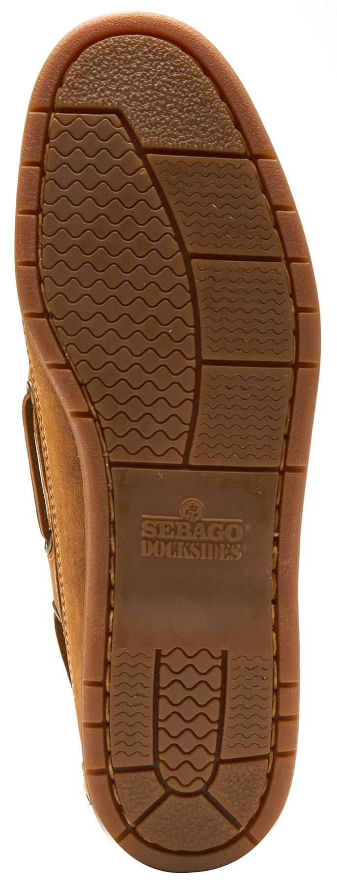 Sebago-Schooner-FGL-Waxed-Leather-Boat-Deck-Shoes-in-Brown-amp-Navy-Blue thumbnail 5