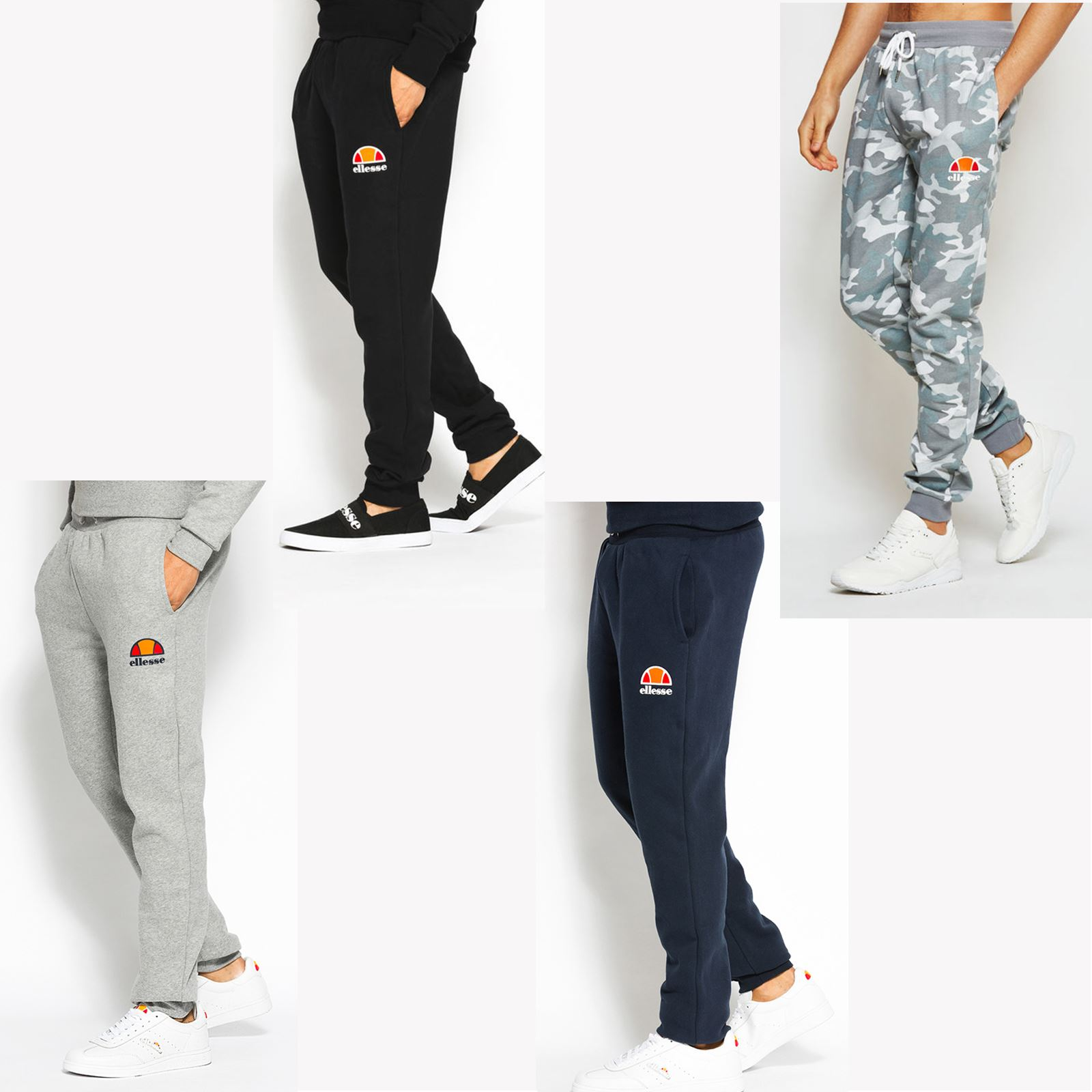 Details about Ellesse Ovest Men Jogging Bottoms Exercise Sweat Gym Track Pants Fleece Trousers