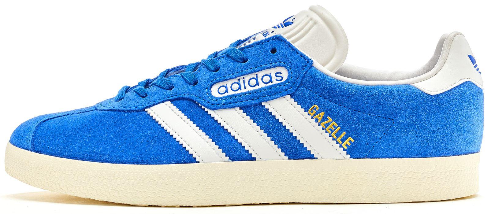 the latest c284b 974da Adidas Originals Gazelle Super Suede Trainers in Blue  Vintage White BB5241