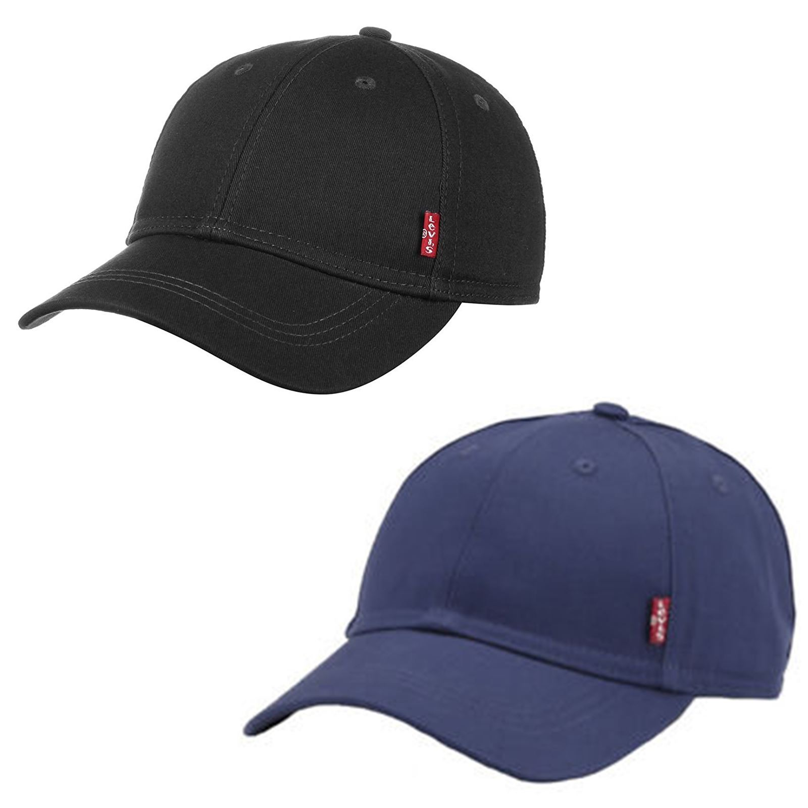 e64d6ba6 Details about Levis Classic Twill Red Tab Baseball Cap in Navy Blue & Black