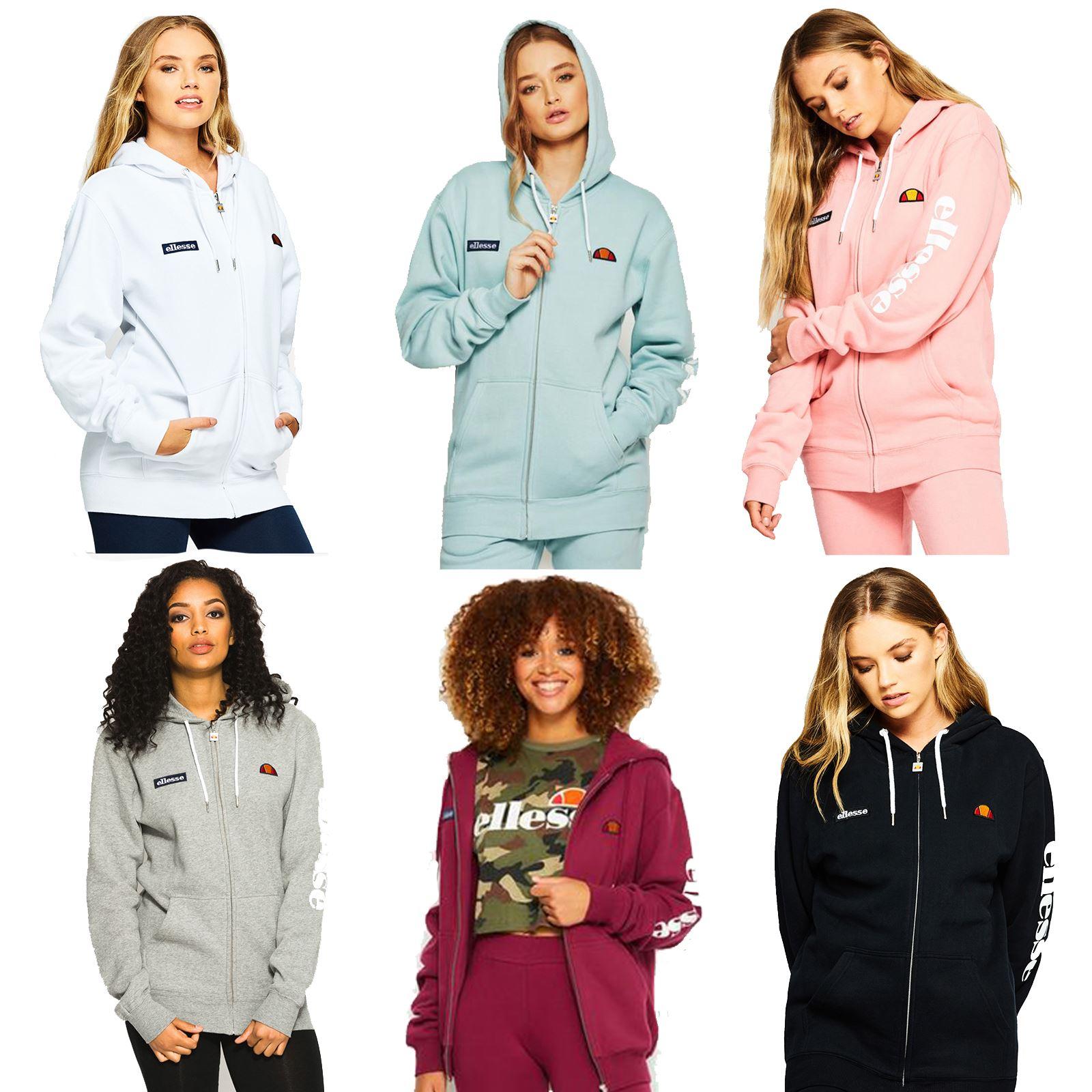 f83fba17 Details about Ellesse Serinatas Zip Hoody Sweat Top Tracksuit Women Jacket  SGS03134