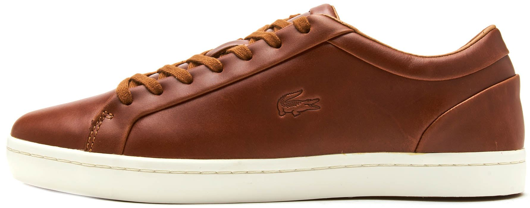 e01d9dba0 Lacoste Straightset 317 1 CAM Leather Trainers in Brown 734CAM0058 078.  Description An iconic silhouette