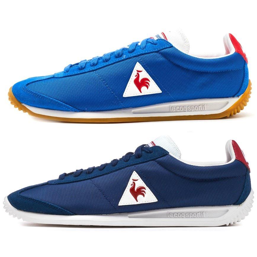 d963b22813e7 Le Coq Sportif Quartz Nylon Gum Trainers in Classic   Dress Blue   Vintage  Red