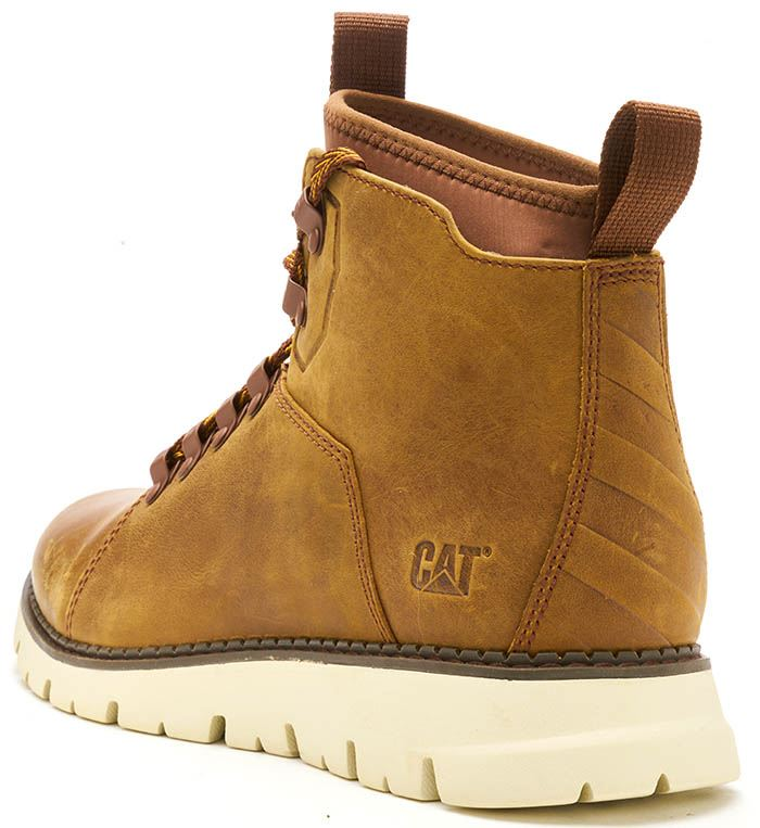 Caterpillar-CAT-Mitcham-Leather-Boots-in-Bronze-Brown-amp-Dark-Red thumbnail 4