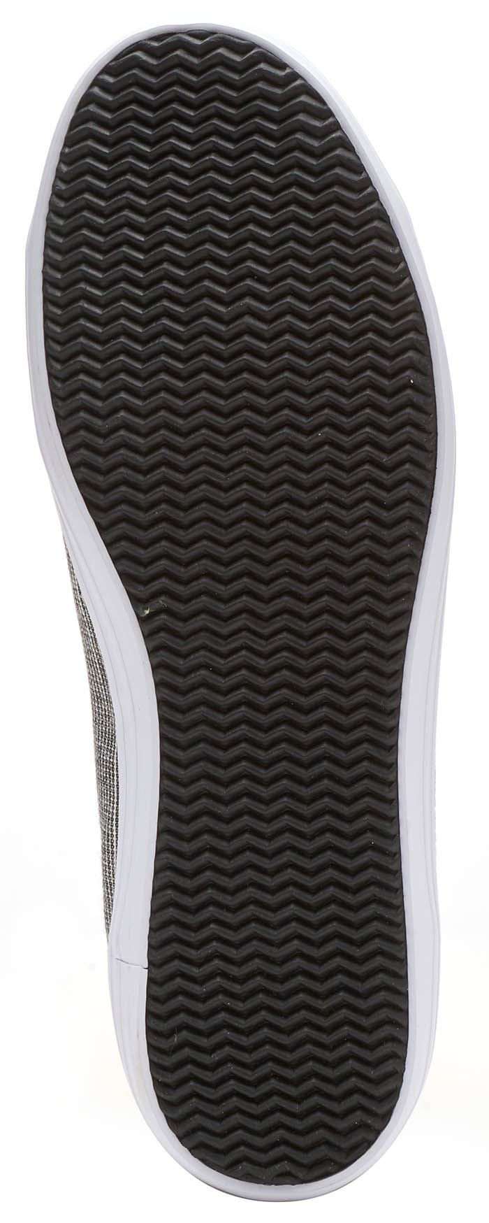 Lacoste Ziane Chunky Toile & Cuir Slip Slip Slip On Baskets en Noir, Bleu Marine & Blanc 861638