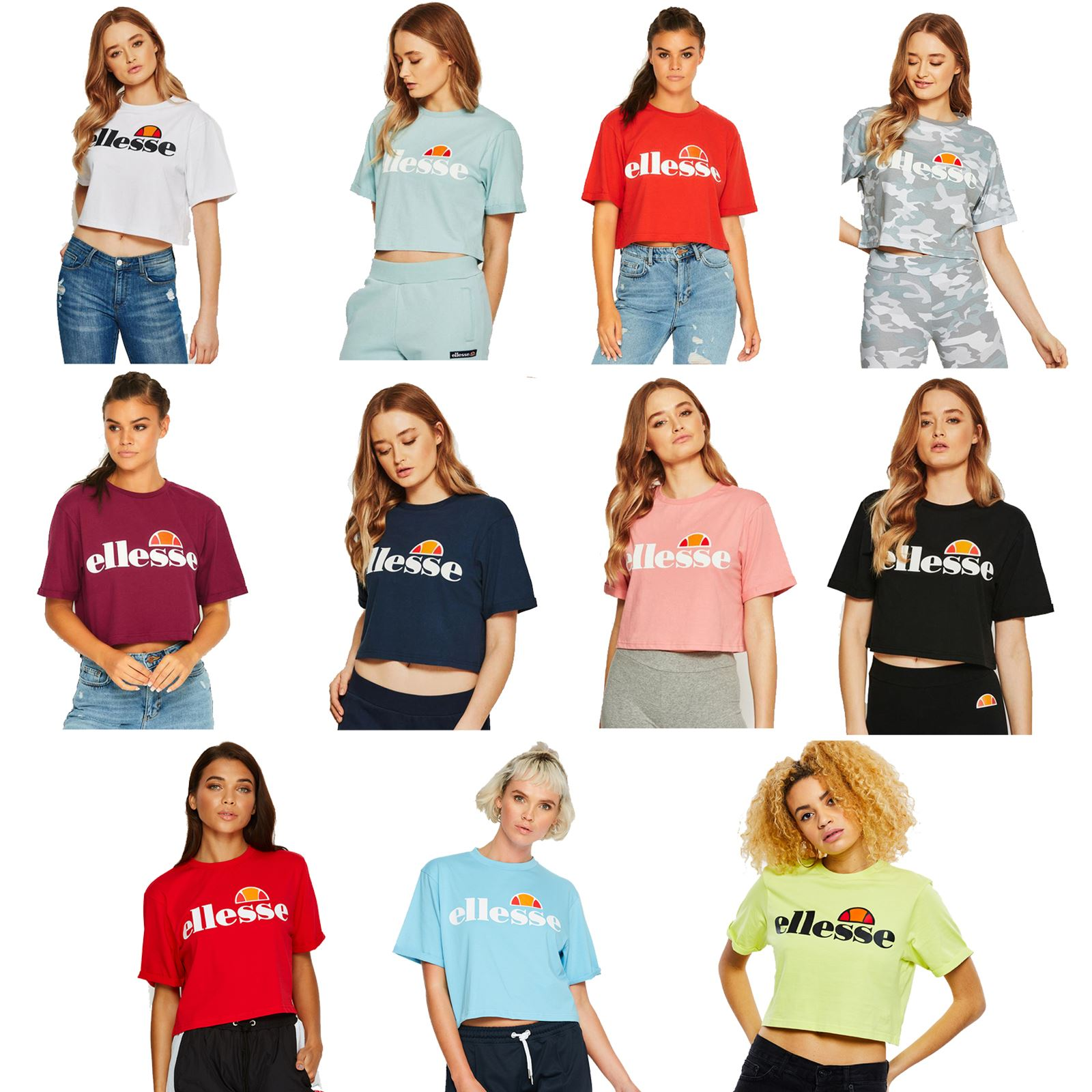 0e9425b45e Details about Ellesse Alberta Women Cropped T-Shirt in Wide Range of Colours