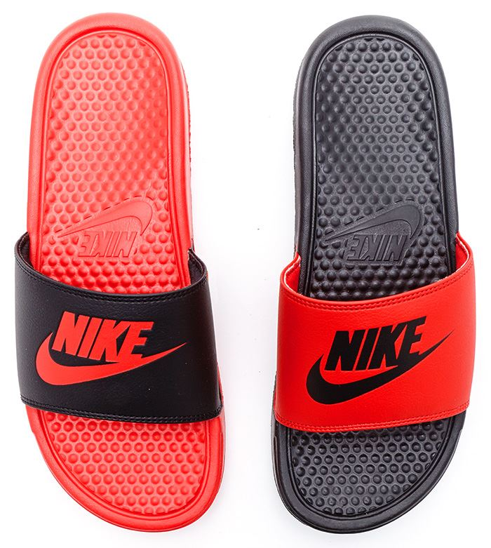 e5645fac0721d6 nike benassi swoosh orange black slippers NIKE BENASSI SWOOSH Orange Slide  Sandal ...