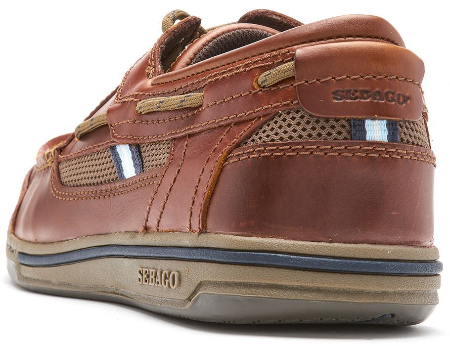 Sebago-Triton-Three-Eye-FGL-Suede-Boat-Deck-Shoes-in-Navy-Blue-amp-Brown-Cognac thumbnail 4