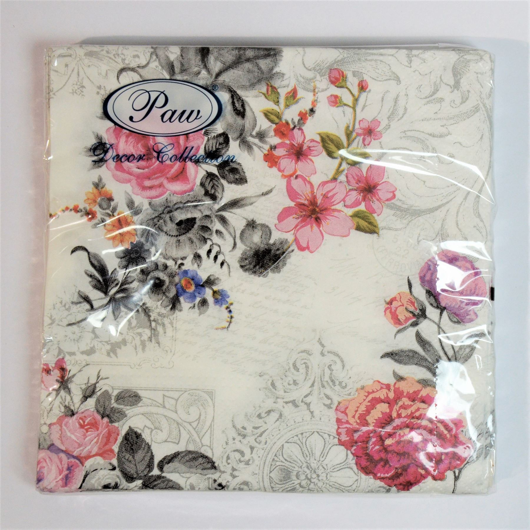 20 Pck Vintage Decorative Paper Napkins Decoupage Craft