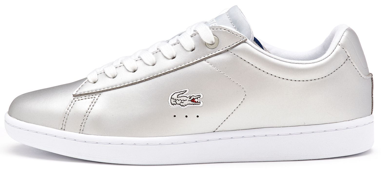 2a0d53994 Lacoste Women s Carnaby EVO 117 Leather Lace up Trainer Silver UK 8. About  this product. Picture 1 of 5  Picture 2 of 5 ...