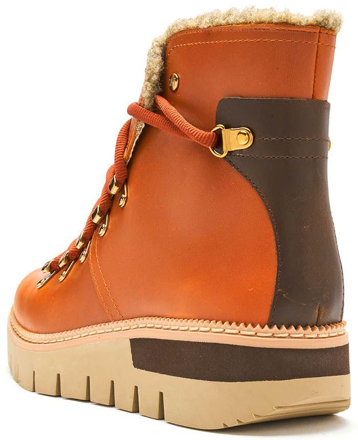 e20b6a875f Caterpillar CAT Attention Fur Waterproof Winter Women Boots in Brown ...