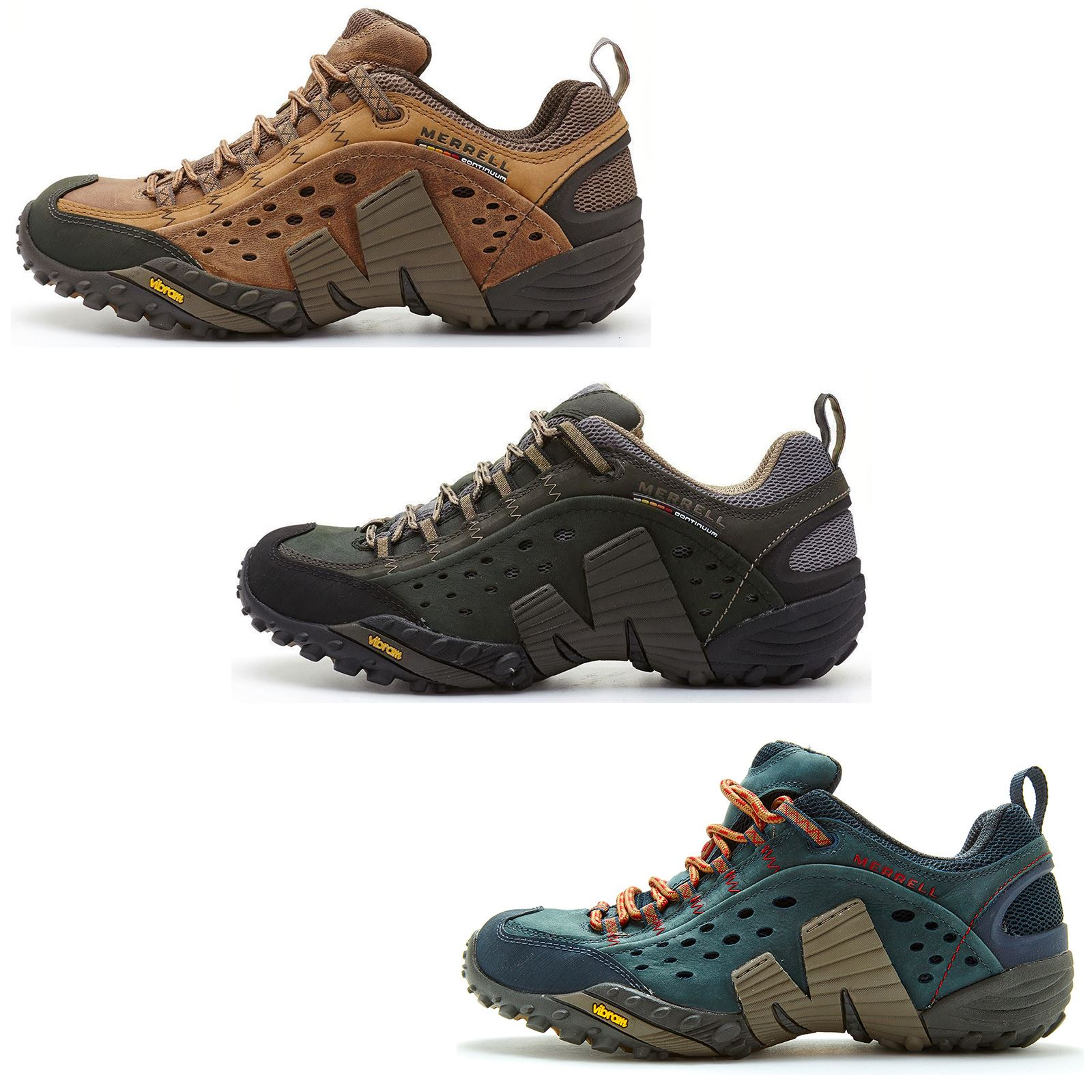 gloednieuw nieuwkomers 50% korting Details about Merrell Intercept Hiking Shoes in Moth Brown & Blue Wing &  Black
