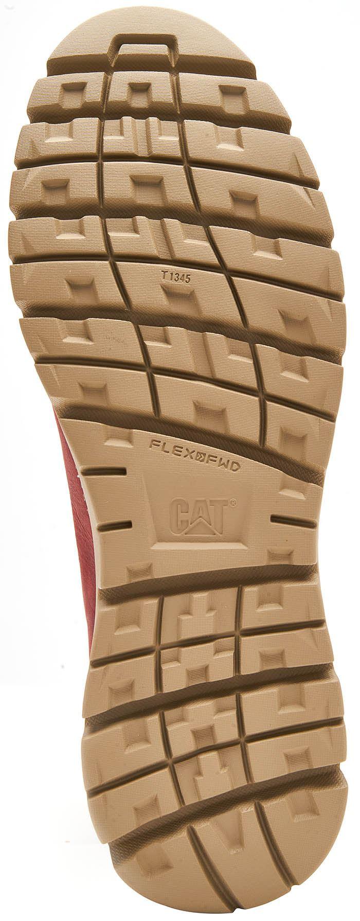 Caterpillar-CAT-Mitcham-Leather-Boots-in-Bronze-Brown-amp-Dark-Red thumbnail 9