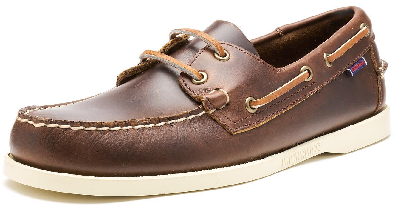 Sebago-Docksides-NBK-Suede-Boat-Deck-Shoes-in-Navy-Blue-amp-Coral-amp-Dark-Brown thumbnail 7