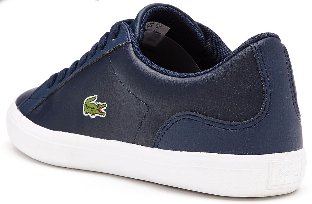 460c8416efdb Lacoste Lerond BL 1 CAM Leather Trainers in Navy Blue 733CAM1032 003 ...