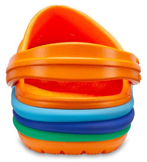 Crocs-Kids-Crocband-Rainbow-Wavy-Sequin-Relaxed-Fit-Clogs-Shoes-Pink-Blue-Orange thumbnail 7