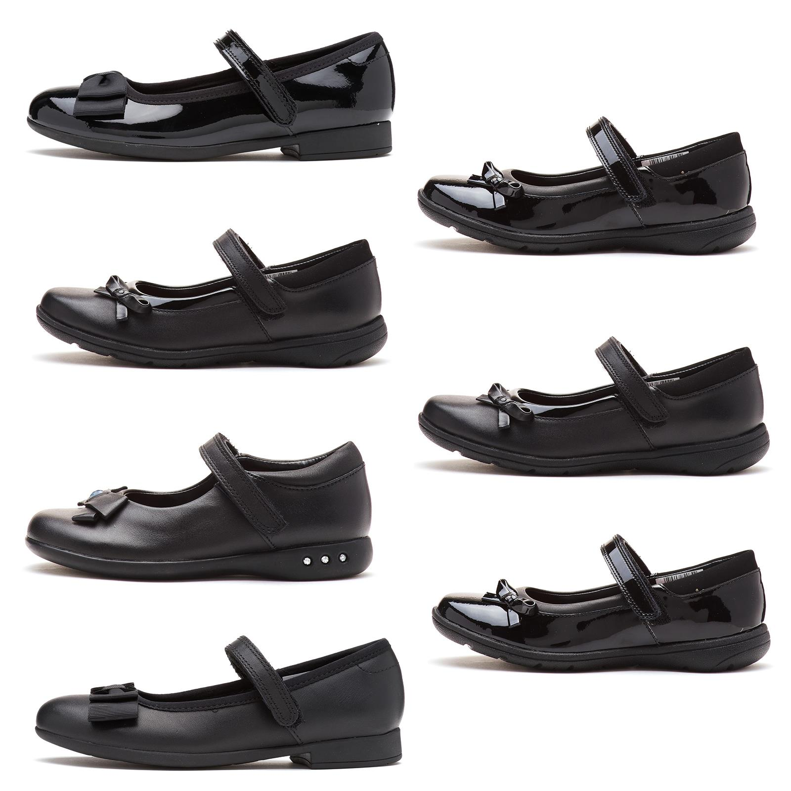 Or Patent Mary Jane Strap School Shoes