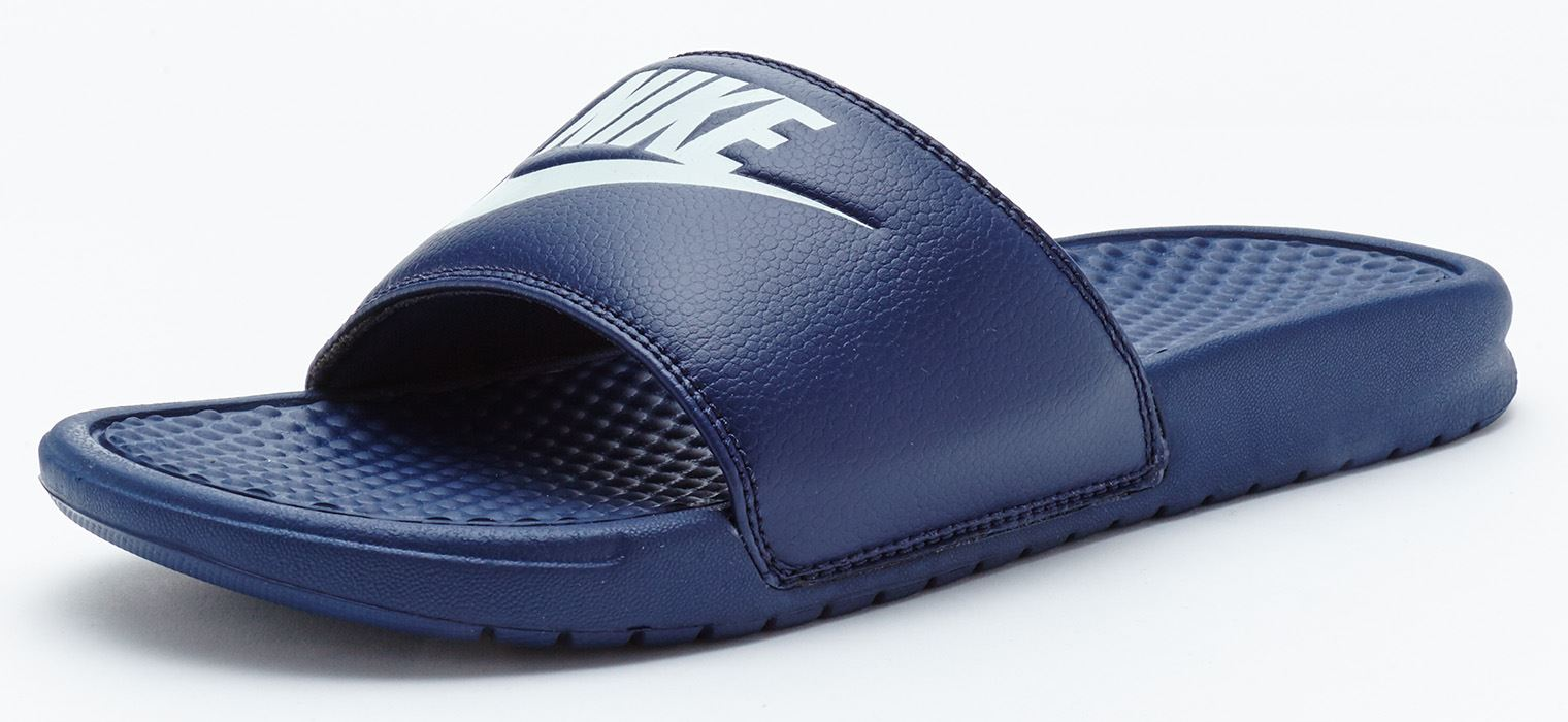 649bbfb9f9a2df Nike Benassi Just Do It Slide Flip Flop Sandals in Midnight Navy Blue  343880 403