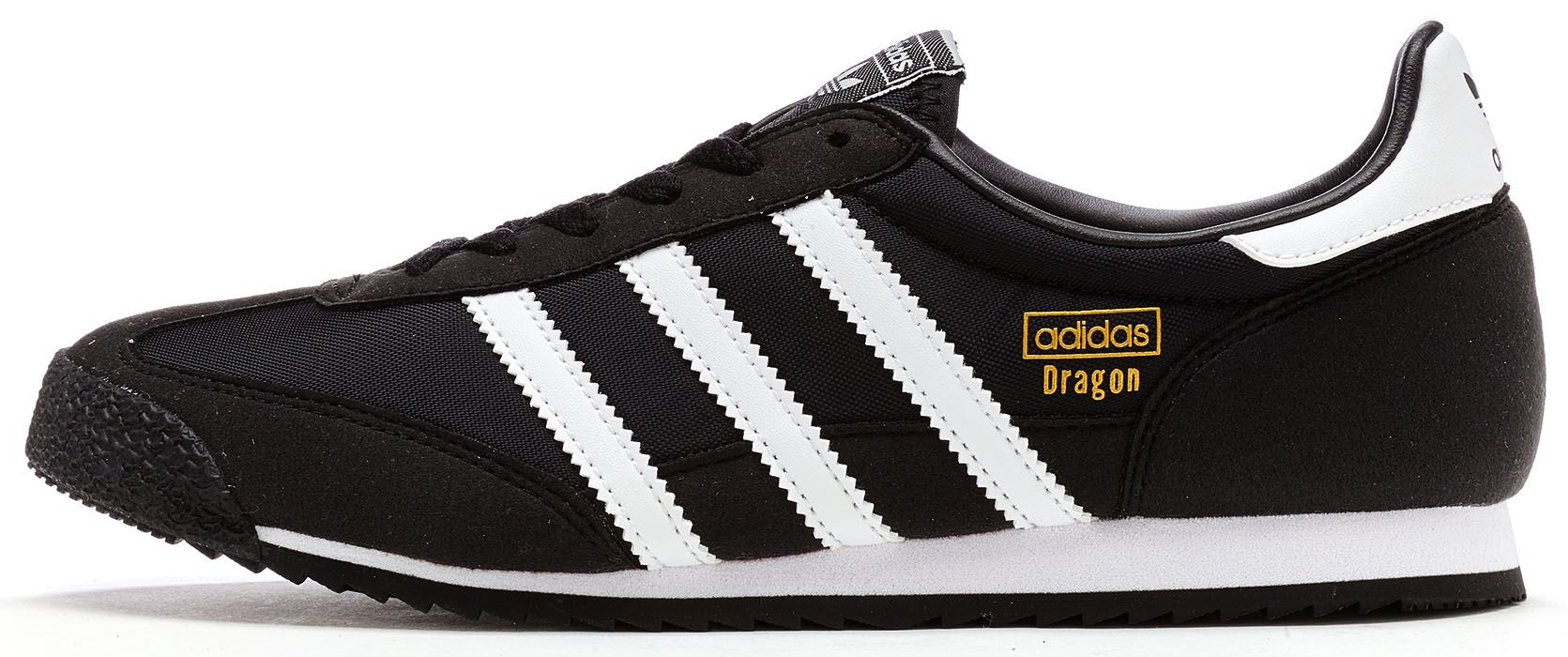 separation shoes f2abd b7260 Adidas Originals GS Dragon OG Suede Trainers in Black BB2487