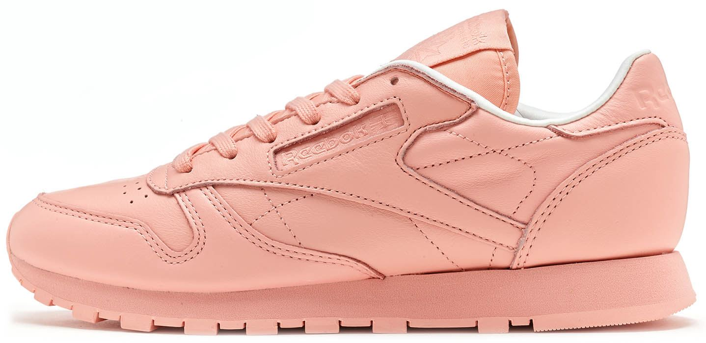 ac0a454c5cc Details about Reebok Spirit Classic Leather Women Trainers in Patina Pink    White BD2771